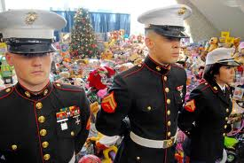 toys for tots, three marines