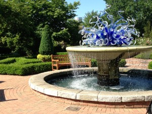 botanical gardens, chihuly fountain HD, May 2013